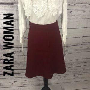 Zara Woman tweed A-Line Skirt with Zip side